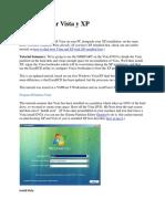 Como instalar Vista y XP