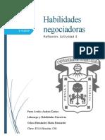 Habilidades negociadoras- Actividad 4- Parra Avalos Andrea Karina