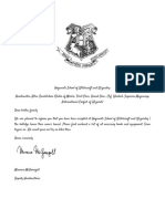 Copy of Hogwarts acceptance letter Template