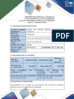 Guía de actividades y rúbrica de evaluación - Fase 5 - Proyecto Final