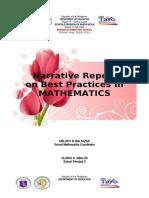 narrative report in math