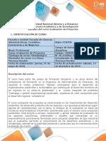 Syllabus del curso Evaluación de Proyectos