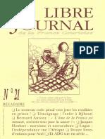 Libre Journal de la France Courtoise N°021