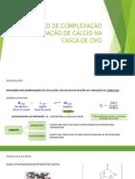 TITULAÇÃO DE COMPLEXAÇÃO DETERMINAÇÃO DE CÁLCIO NA CASCA FINAL