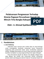 Pelaksanaan Pengawasan Terhadap Kinerja Pegawai Perusahaan Daerah Air Minum Tirta Bangka Kabupaten Bangka