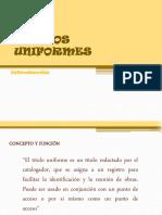 TITULOS UNIFORMES 2014-1