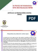 07 RE.ART - 16 SISTEMA DE PROTECCIÓN CONTRA RAYOS