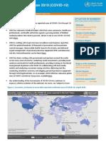 World Health Organization global COVID-19 report - April 2
