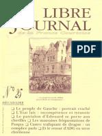 Libre Journal de la France Courtoise N°025