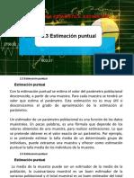 2.3 Estimación puntual - Dr. Jose A. Sarricolea Valencia