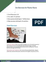 Preventive routine for plantar fascia