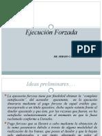 diapositivas N° 1 Ejecución forzada. Dr. Casassa
