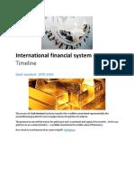 International financial system -- Timeline