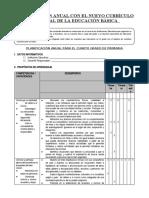 PLANIFICACION CURRICULAR MODELO 4° GRADO (1)