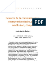 Sciences de la communication
