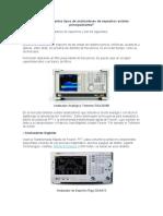 Tipos de analizadores de espectros