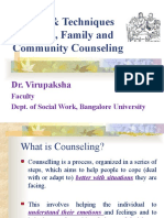 Process and Techniques of Counselling