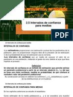 2.5 Intervalos de confianza para medias - Dr. Jose A. Sarricolea Valencia