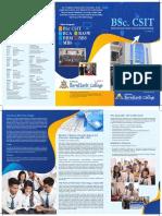 BernHardt College CSIT Leaflet