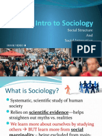 Chapter 1 Nature of Sociology notes