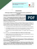 COVID-19 CPDS Exige Asistencia a La Población Mas Necesitada
