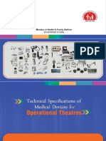 Technical Specifications of Medical Devices for Operational Theatres