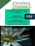 RELIGIOSIDAD Y LA ESPIRITUALIDAD VIDA ACTUAL.pps