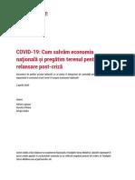 COVID-19 Cum SalvIm Economia NayionalI Ui PregItim Terenul Pentru o Relansare Post-crizI 2