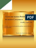 Ceci est notre Prédication et ceci est notre Croyance - Traduction par Karim ben Amor (1).pdf