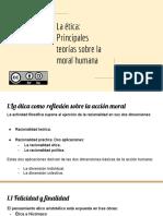 Tema 8.La ética_ Principales teorías sobre la moral humana