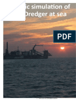 Dynamic Simulation of Cutter Dredger at Sea