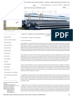 Common defects and prevention of seamless carbon steel pipe production - Knowledge - Cangzhou Steel Pipe Group (CSPG) Co.,Ltd