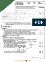 Devoir de Contrôle N°1 - Sciences physiques - 2ème Sciences (2010-2011) Mr mouhamed mourad