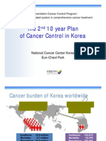 The 2nd 10 year Plan of Cancer Control in Korea