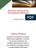 Factores Culturais da Participação Eleitoral