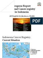 Progress Report National Cancer Registry in Indonesia