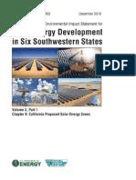 Solar DPEIS California SEZs