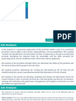 Job Analysis and Recruitment and Selection