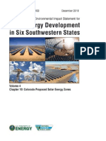 Solar DPEIS Colorado SEZs