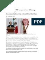 Premio Forestal 2009 Para Product Ores de Durango