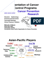 Implementation of Cancer Control Programs, Cancer Prevention Research