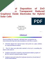 Electrochwmical Deposition of ZnO Nanorod on Graphene