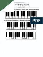 The Piano Keyboard-Worksheet