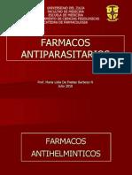 FARMACOS ANTIPARASITARIOS is Paludismo