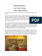 Sanctifier l'HUILE D'ONCTION