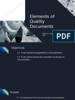 Elements of Quality Documents
