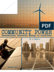 Community Power-Decentralized Renewable Energy in CA