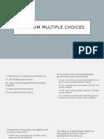 midterm multiple choices