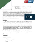 Produção de materiais compósitos utilizando matriz termofixa
