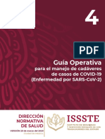 Guía Operativa para el manejo de cadáveres COVID19